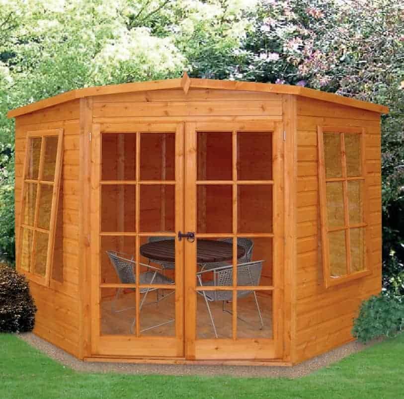 7x7 Shire Hampton Traditional Corner Wooden Summerhouse