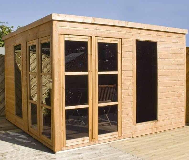 10x10 Windsor Helios Contemporary Wooden Summerhouse