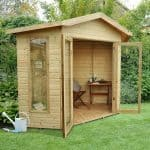Corner Summer House - Hartwood 7' X 7' FSC Pressure Treated Oxhill Corner Summer House