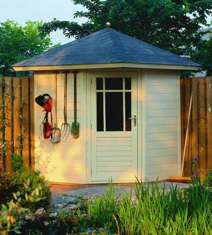 7'8x7'8 Ultimate Corner Summerhouse - Felt Tile Roof