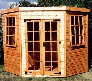 6x6 Traditional Stowe Corner Wooden Summerhouse