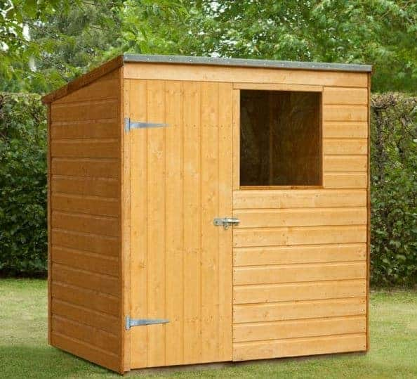 6' x 4' Forest Shiplap Pent Dip Treated Wooden Shed (1.82m x 1.27m)