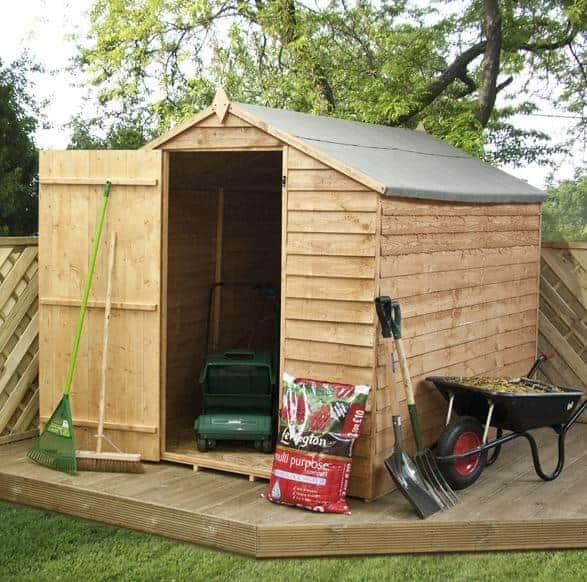 8x6 Waltons Ultra Value Overlap Apex Wooden Garden Shed