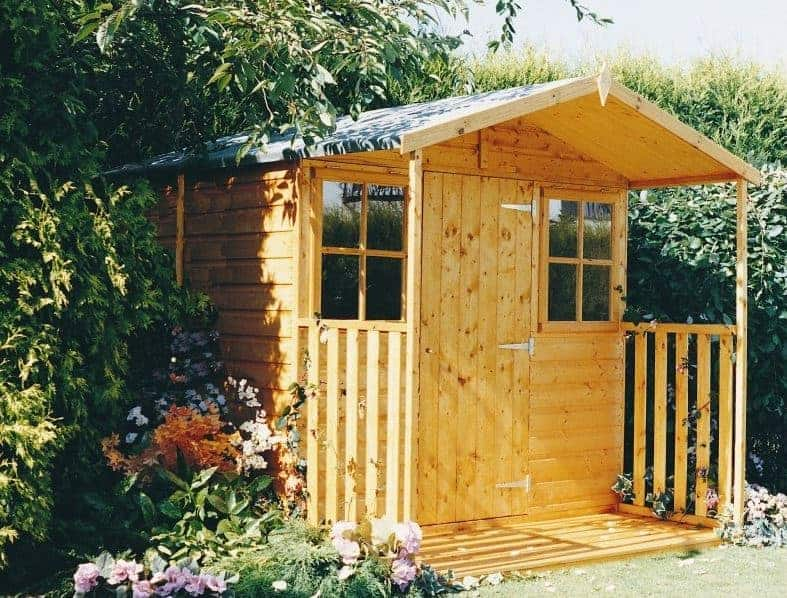 7' x 9' Shire Casita Wooden Summerhouse including Veranda (2.16m x 2.72m)