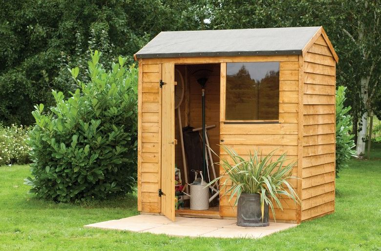 6' x 4' Forest Overlap Reverse Apex Dip Treated Wooden Shed (1.82m x 1.32m)