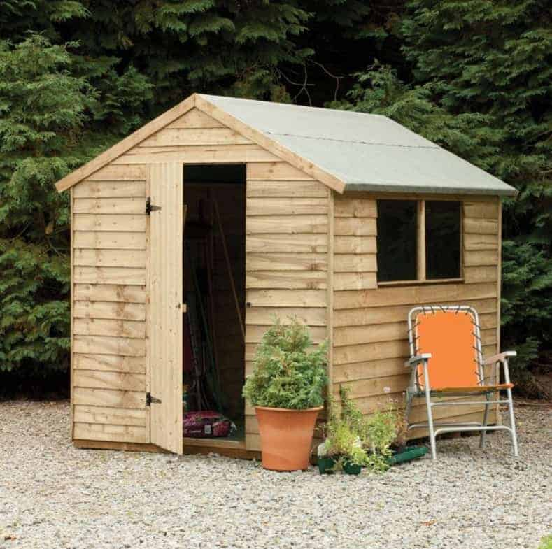 Hartwood 8x6 FSC Pressure Treated Overlap Apex Shed