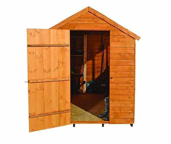 8' x 6' Forest Overlap Apex Dip Treated Wooden Windowless Shed (2.4m x 1.86m)