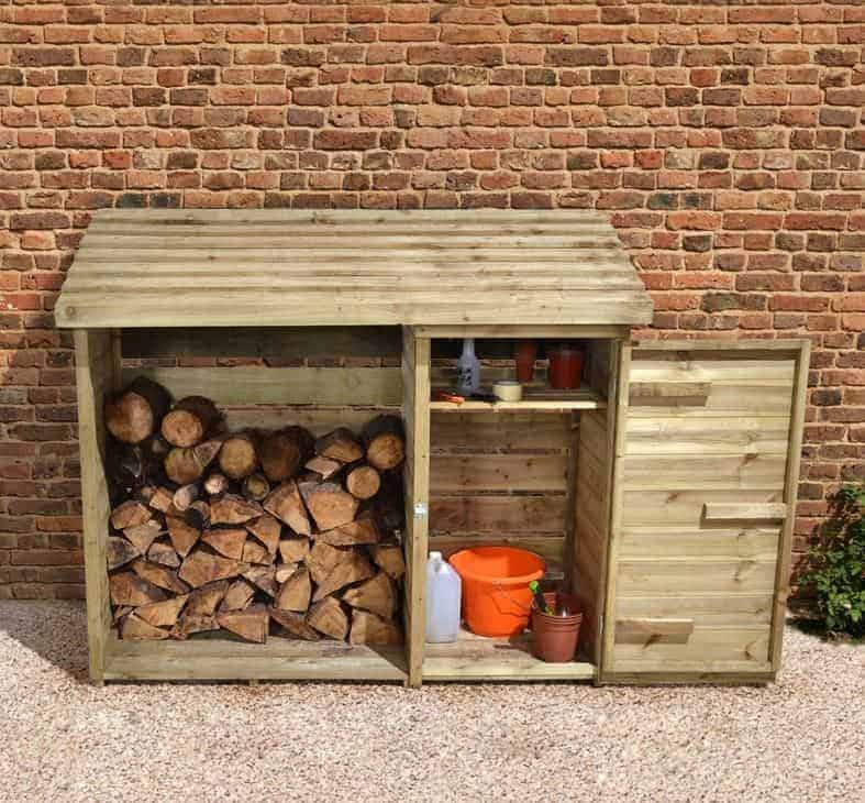 6' x 2' Forest Large Log Store Tool Shed (1.76m x 0.69m)