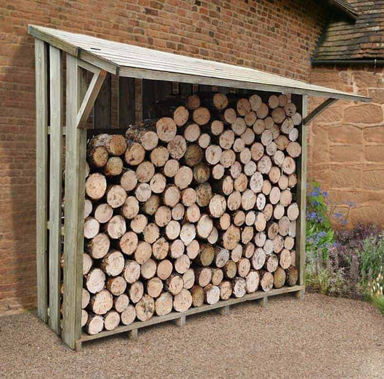 7u0027 X 3u0027 Xtra Large Easy Access Sherwood Log Store