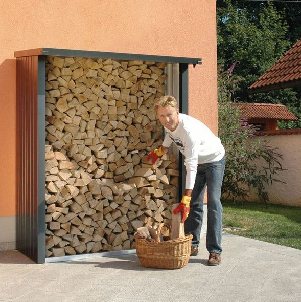 5'9 x 2' Store-Plus Large Wall Log Store (1.75m x 0.6m)