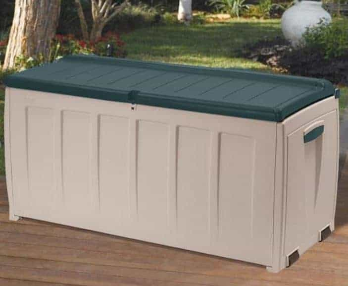Keter Deluxe Plastic Garden Storage Box with Seat