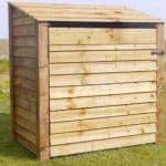 Firewood Storage Shed - Rutland 4 Foot Single Midi Log Store With Door