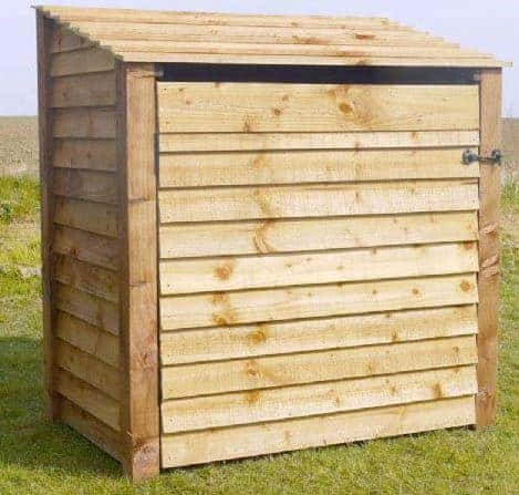 Arbor Garden Solutions Wooden Log Store With Door 6Ft