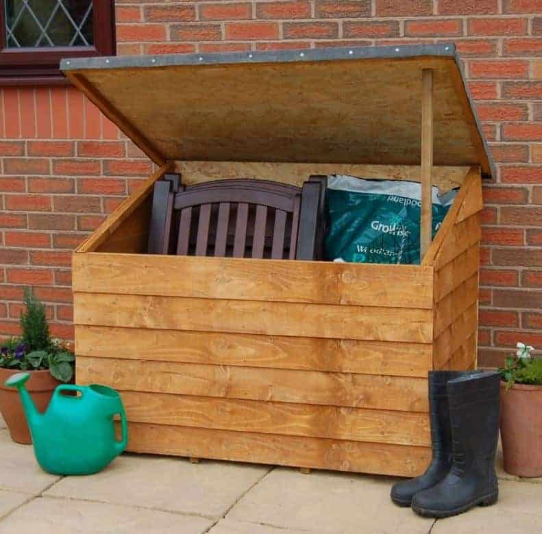 3'2 x 1'6 Forest Wooden Garden Storage Chest - Outdoor Patio Storage Box (0.9m x 0.4m)