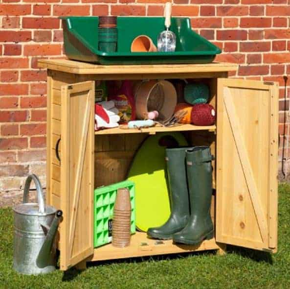 Waltons 5 x 3 Pressure Treated Wooden Double Garden Store