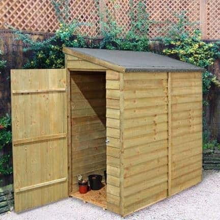 Hartwood 6' x 3' FSC Pressure Treated Overlap Pent Wall Shed