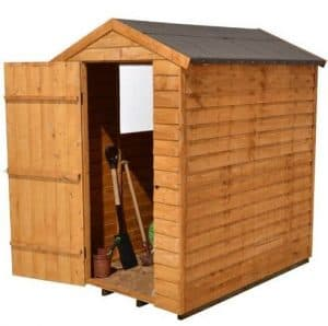 Hartwood 6' x 4' FSC Overlap Apex Shed Side View