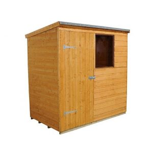 Hartwood 6' x 4' FSC Pent Shed Left Side View