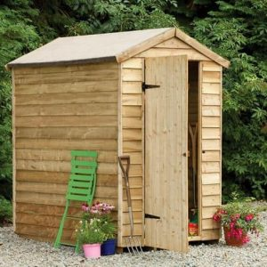 Hartwood 6' x 4' FSC Pressure Treated Overlap Apex Security Shed