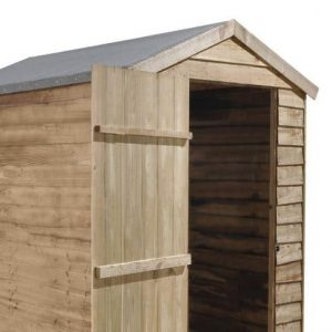 Hartwood 6' x 4' FSC Pressure Treated Overlap Apex Security Shed Empty Inside