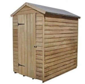 Hartwood 6' x 4' FSC Pressure Treated Overlap Apex Security Shed Side View
