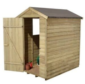 Hartwood 6' x 4' FSC Pressure Treated Overlap Apex Shed Left SideView