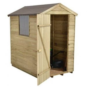 Hartwood 6' x 4' FSC Pressure Treated Overlap Apex Shed Right Side View