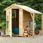 Hartwood 6' x 4' FSC Pressure Treated Overlap Apex Shed With Lean To