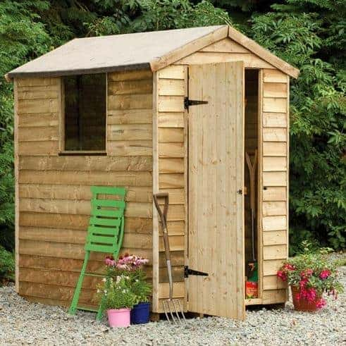 Hartwood 6' x 4' FSC Pressure Treated Overlap Apex Shed