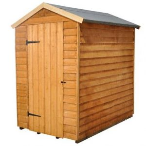 Hartwood 6' x 4' FSC Windowless Overlap Apex Shed Closed Door