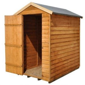 Hartwood 6' x 4' FSC Windowless Overlap Apex Shed Left Side View
