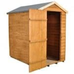 Hartwood 6' x 4' FSC Windowless Overlap Apex Shed Right Side Open Door