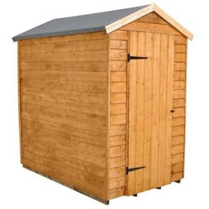 Hartwood 6' x 4' FSC Windowless Overlap Apex Shed Single Door
