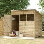 Hartwood 7' x 5' FSC Overlap Pent Shed Right Side View