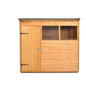 Hartwood 7' x 5' FSC Pent Shed Front View
