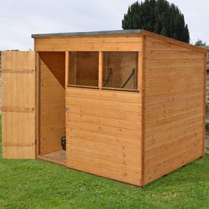 Hartwood 7' x 5' FSC Pent Shed Left Side View