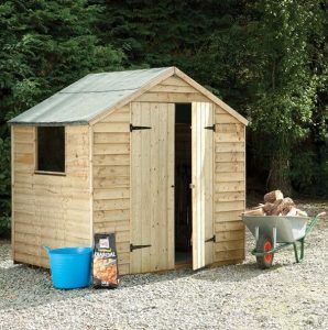 Hartwood 7' x 5' FSC Pressure Treated Double Door Overlap Apex Shed
