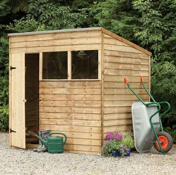 Hartwood 7' x 5' FSC Pressure Treated Overlap Pent Shed