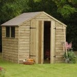 Hartwood 7' x 7' FSC Pressure Treated Double Door Overlap Apex Shed