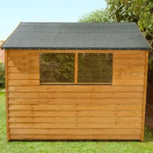 Hartwood 8' x 6' FSC Double Door Overlap Apex Shed Cladding and Styrene Window