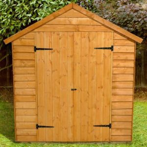 Hartwood 8' x 6' FSC Double Door Overlap Apex Shed Closed Door