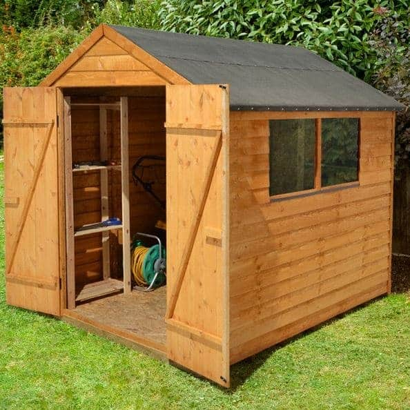 Hartwood 8' x 6' FSC Double Door Overlap Apex Shed