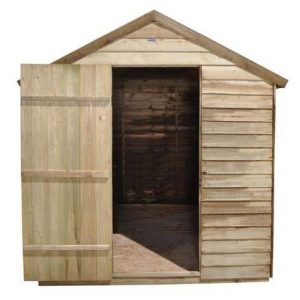Hartwood 8' x 6' FSC Pressure Treated Overlap Apex Shed Empty Inside