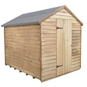 Hartwood 8' x 6' FSC Pressure Treated Overlap Apex Shed Single Close Door