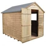 Hartwood 8' x 6' FSC Pressure Treated Overlap Apex Shed Single Open Door