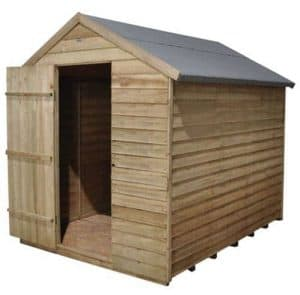 Hartwood 8' x 6' FSC Pressure Treated Windowless Overlap Apex Shed Left Side View