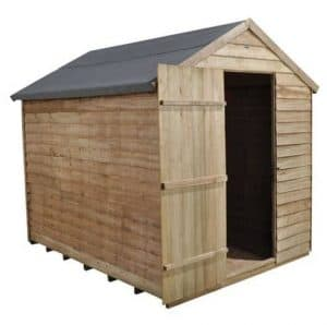 Hartwood 8' x 6' FSC Pressure Treated Windowless Overlap Apex Shed Right Side View