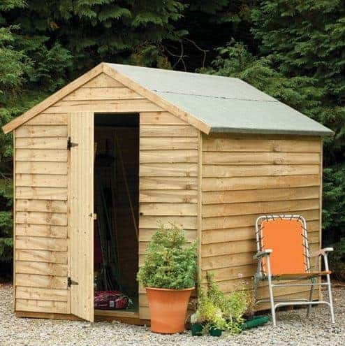 Hartwood 8' x 6' FSC Pressure Treated Windowless Overlap Apex Shed