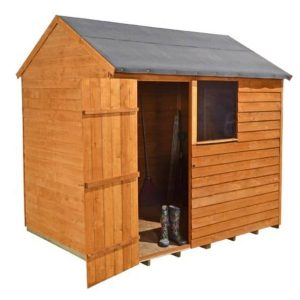 Hartwood 8' x 6' FSC Reverse Overlap Apex Shed Side View