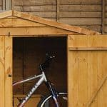 Hartwood FSC Overlap Timber Bike Store Apex Roof and Open Door